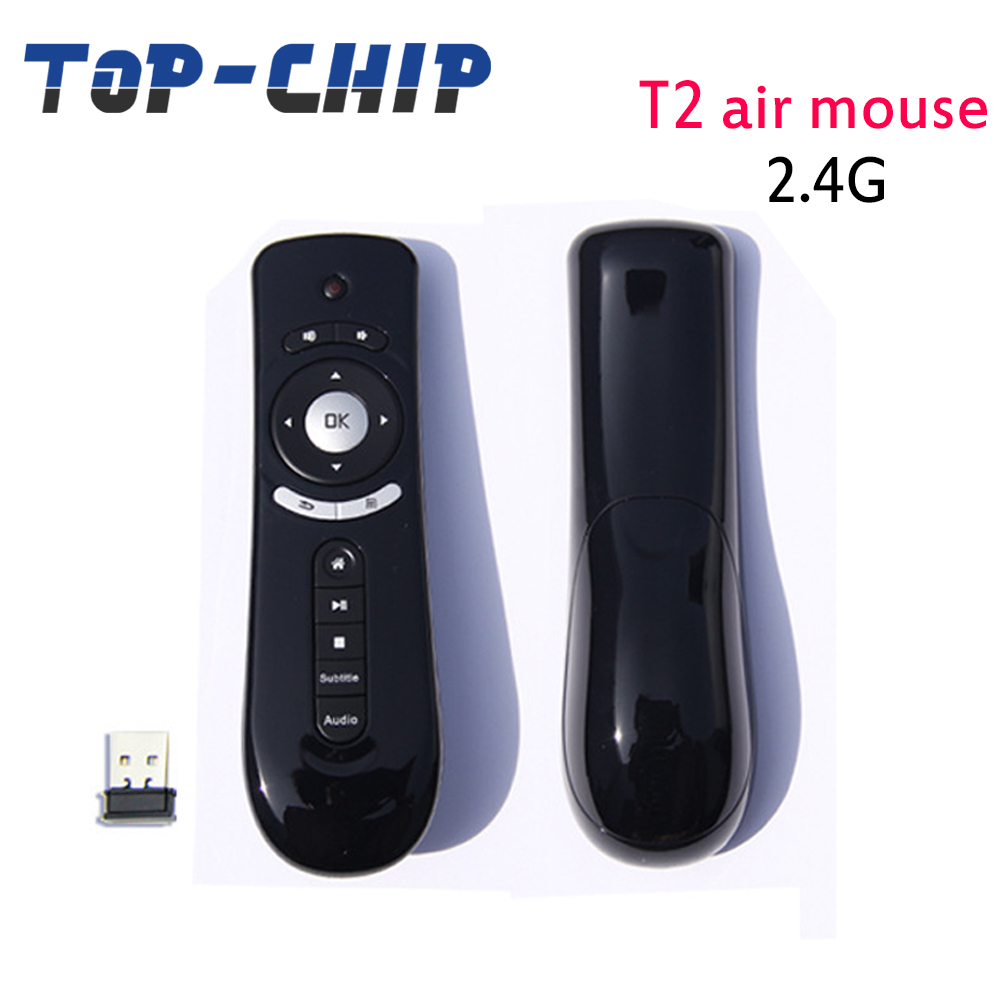 T2 Universal Remote Control Mouse TV Box Gaming Mini Fly Air Mouse 2.4G 3D Wireless Keyboard Remote Sensing
