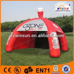 Customized durable CE inflatable pink camping tent
