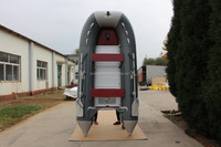 Aluminum Wood PVC Hull Material and CE Certification inflatable boat ASD-420 for sale!!!