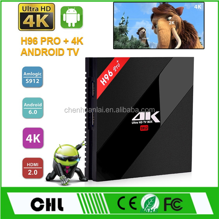 Software Download H96 Pro Plus Iptv Subscription Android Tv Box , S912 Octa Core 3GB RAM 4K IPTV Receiver
