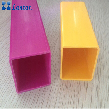 Color rectangular plastic pvc clear square pipe for doors and windows