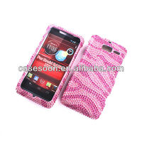 Color Footprints stone Case,Diamond Case For XT907,Fashion Bling case for Motorola Droid RAZR M XT907 snap on Case