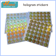 Cheap Custom Hot Sale adhesive Hologram Stickers
