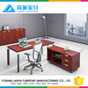 Modern Executive Desk L-Shaped Desk in Aluminum