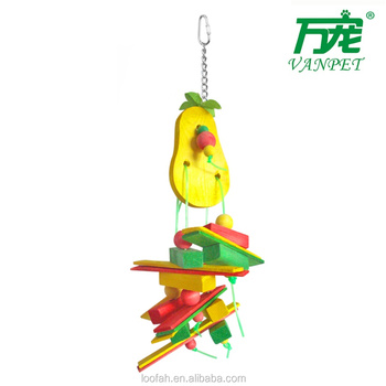 yellow pear toys for all size birds