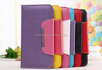 Hot new product for 2016 TPU leather wallet design cheap mobile phone case with stand function for iphone 6