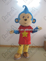 blue hair monkey mascot costume with star shirt NO.4263