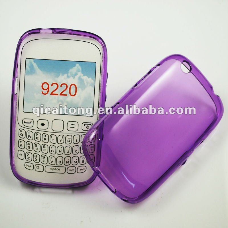 cellphone tpu case without texture for blackberry 9220 curve