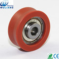 China High speed plastic pulleys with bearings for windows 608zz sliding wheel