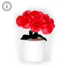 Colored sola wood flower diffuser flower with fiber wick in bundle with various types