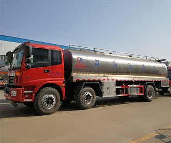 FOTON AUMAN LHD 6x2 16 cubic meters 4 cabins food grade stainless steel milk liquid transport tanker truck