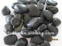 black landscaping rock pebbles