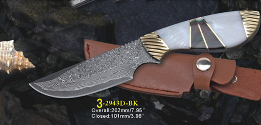 western brand damascus knives