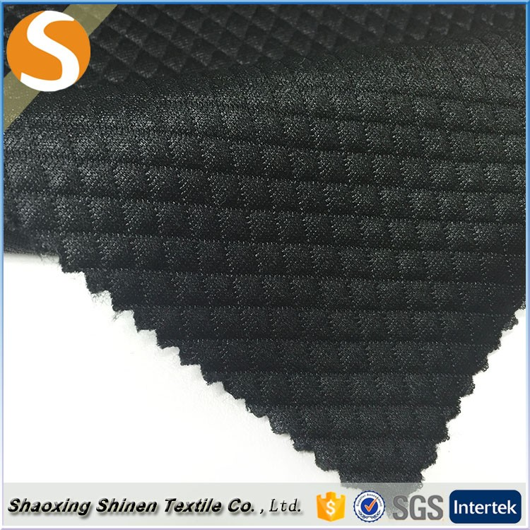 Hot sale matte Clip silk jacquard polyester spandex blend fabric