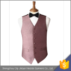 Trendy design mens grooms cool pink polyester vest with printing