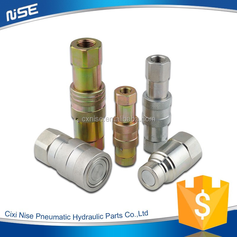 Flat face Type hydraulic quick couplers