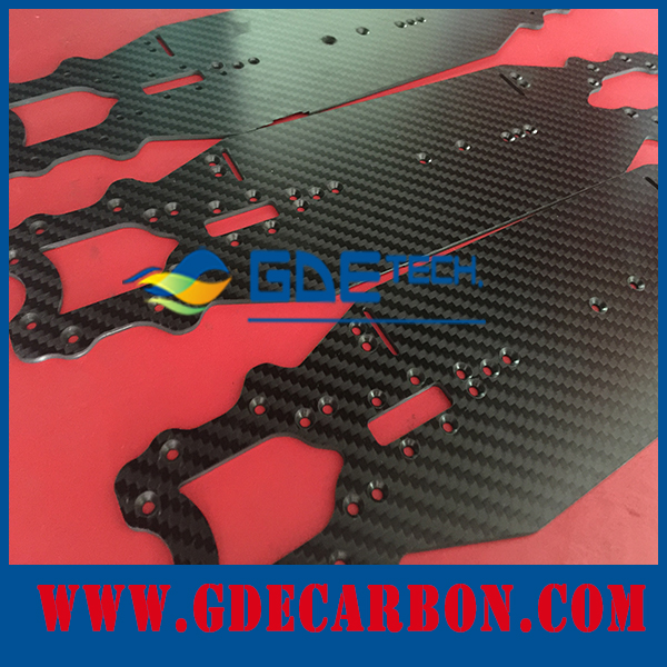 GDE CNC Cutting 3K Twill matte carbon fiber radio control toy cutting parts