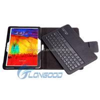 Ultrathin Bluetooth wireless keyboard Leather Case for Samsung Tablet