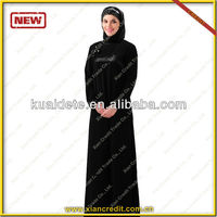 New Design Black Dress Muslimah Wear Collection for Women