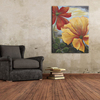 Customize handmade beautiful canvas flower oil painting