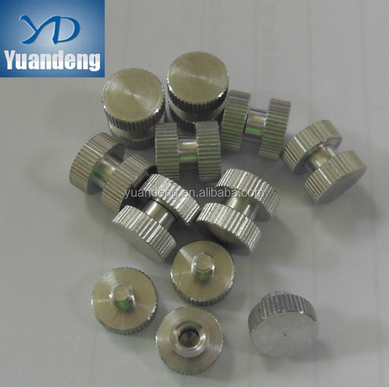 customized Aluminium Straight Knurled Male-Female Bolt Thread Adapter