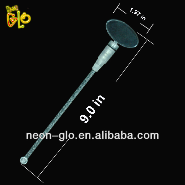 Flashing Round Top and Ball End Custom Plastic Stirrer/muddler
