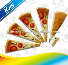 pizza shape plastic ball pen