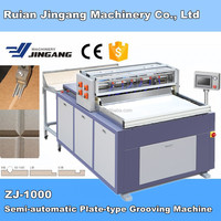 ZJ-1000 High Precision Gray Cardboard MDF board box making Semi automatic V Grooving machine by JINGANG MACHINERY