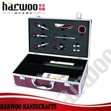 Charming MDF Wood wine gift case with handle