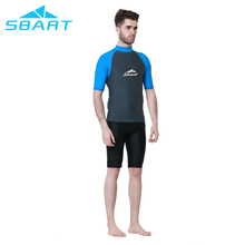 Buy direct from sbart factory short sleeves swim shirt lycra quick dry rash vest swim rash guard for men with wholesale price