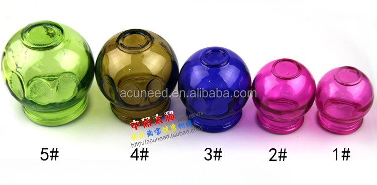 Hot Sell Chinese Glass Vacuum Cupping with color