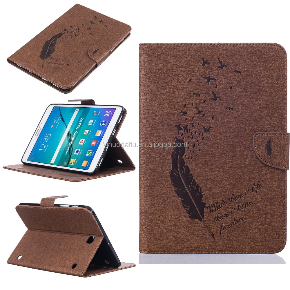 Smart Magnetic Stand Tablet Leather case For Samsung Galaxy Tab S2 9.7 T810 T815 /S2 8.0 T710 T715 wallet Tablet cover case