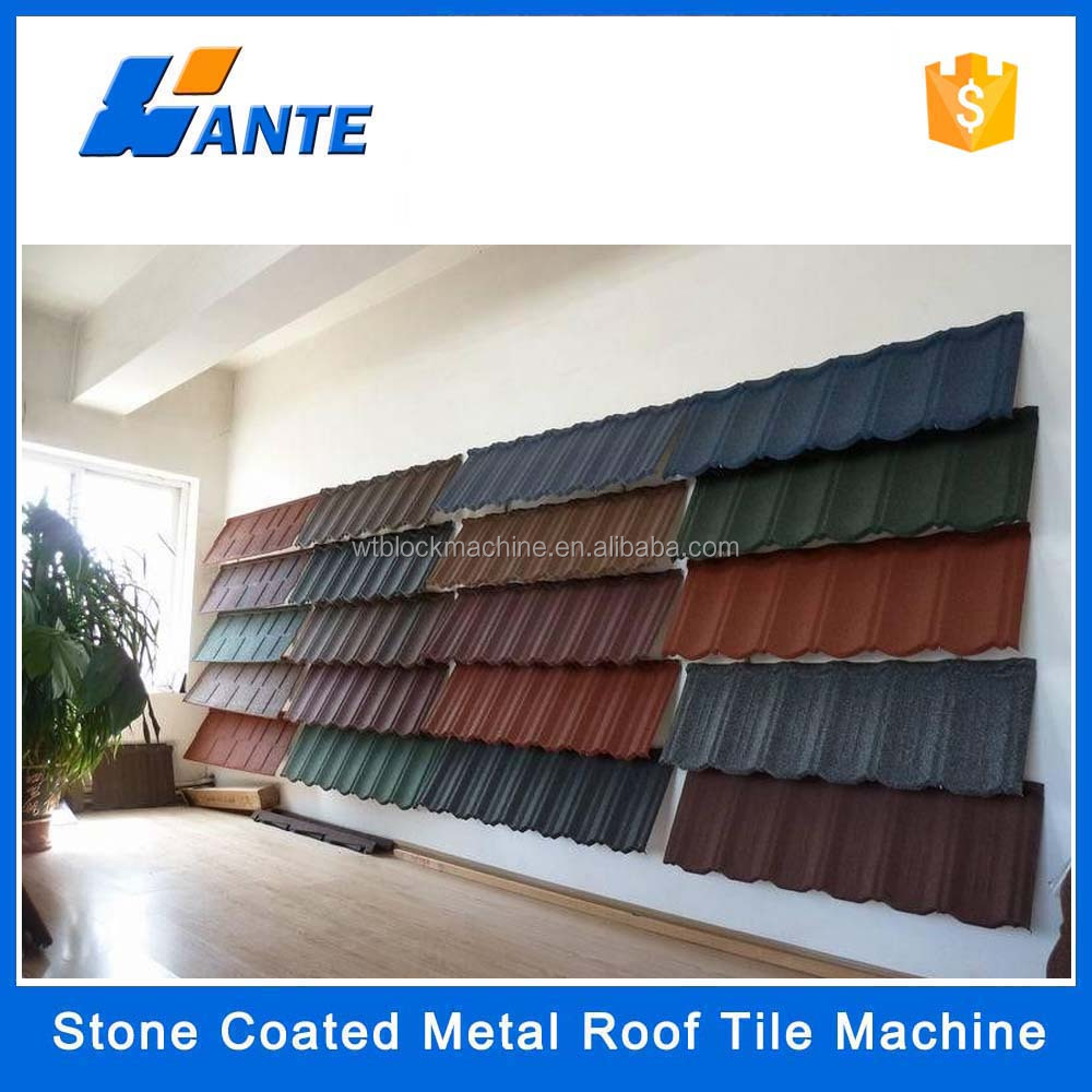 different types of roof tiles, stone coated metal roof tile for Negeria