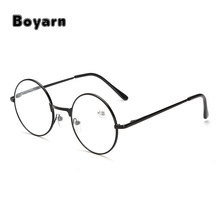 Reading Glasses Retro Men Women Round Mirror For Metal Frame Glasses Plain Mirror Personalized + 100...+400