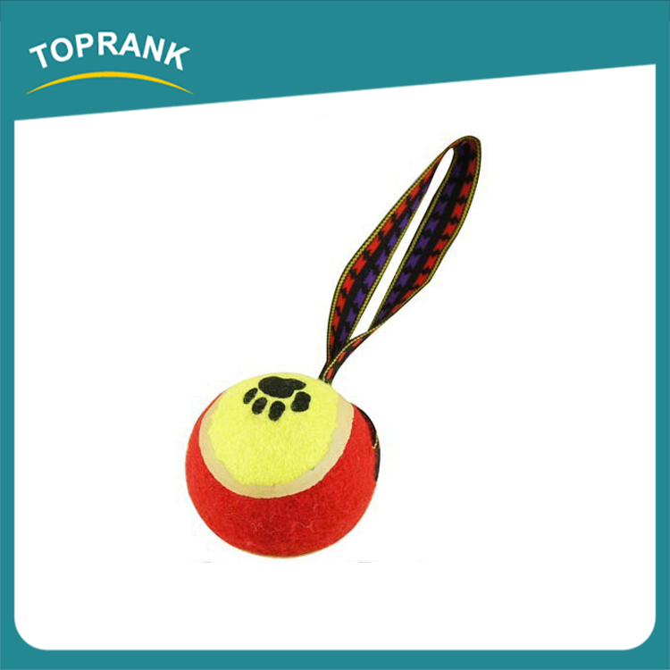 Hot selling dog training toys pet dog bouncing tennis ball with string