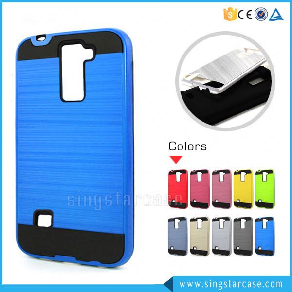Hot Selling PC+TPU Wire Drawing Mars Combo Slim Armor Case For LG <strong>Q10</strong>