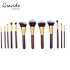 2017 high quality wooden handle beauty products makeup brushes set