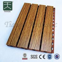 grooved acoustic panel MDF fireproof melamine melamine board colors auditorium and gymnasium wall panel decorative board