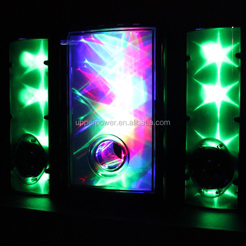 New 3D Magic LED Glowing Flashing 2.0 Subwoof Speaker