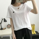 Latest Design Women White Wholesale Blank Bamboo T-Shirts Wholesale Basic T-Shirts