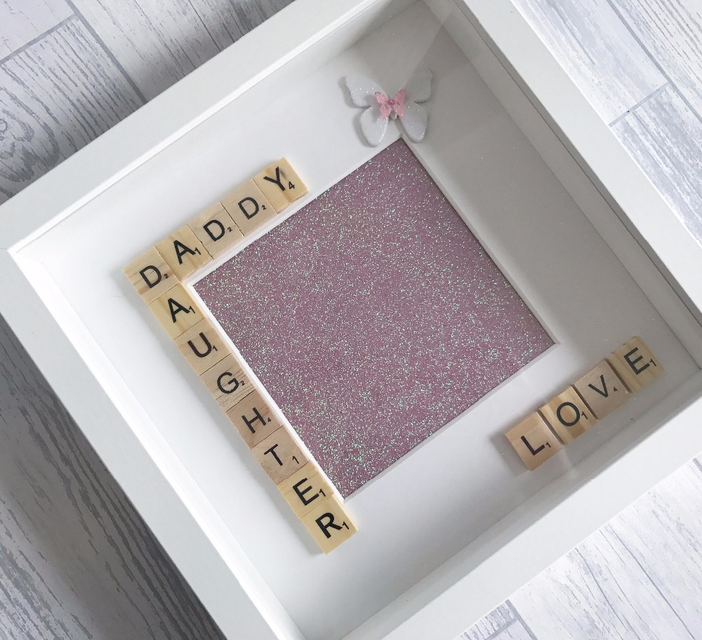 FATHERS DAY frames butterfly scrabble frame handmade gift picture frame
