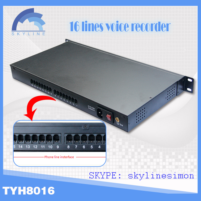 16 ports voice digital recorder for spy voice msg Hd audio recorder