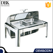 DBK ODM OEM wholesale hotel buffet chafing dish food warmer with glass dish
