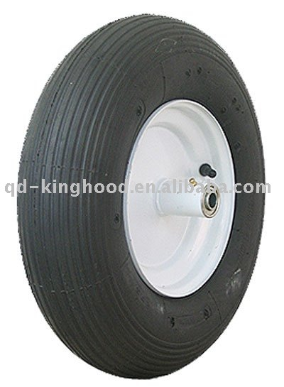"16"" Pneumatic Wheelbarrow Wheel, Metal hub"
