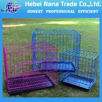High Quality Durable Foldable Wire Iron Folding Cat Pet Cage