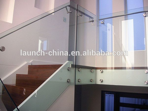 balcony glass railing profile standoff pin stainless steel railing bracket