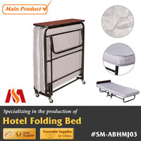 Hotel Resorts Metal Foldable Guest Room Extra Bed