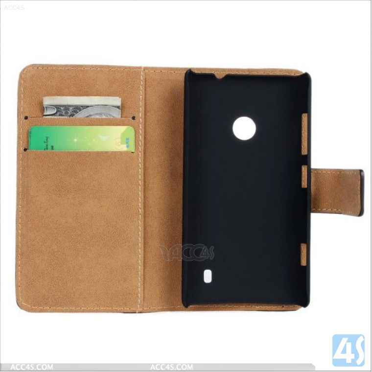 Hot selling flip wallet leather cover case for nokia lumia 520