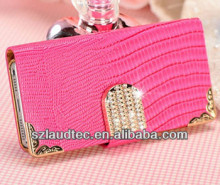 BLING DIAMOND MAGNETIC LEATHER WALLET FLIP CASE COVER FOR IPHONE 4G 4S 5G
