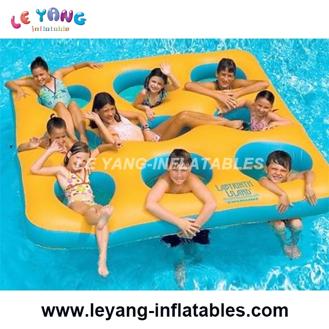 kids playing water pool inflatable water floating lounge for water game